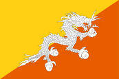 Bhután National Flag