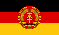 East Germany National People's Army Flag