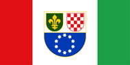 Bosnia & Herzegovina Bosniac-Croat Federation Flag