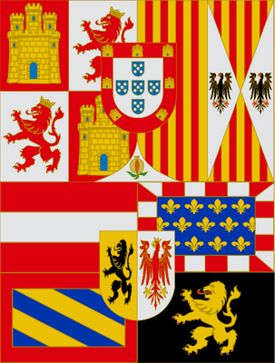 House of Austria (With Portugal) Flag