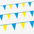 Blue & yellow Tour bunting