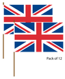 Union Jack Hand Waving Flag (pack of 12)