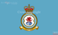 RAF 614 RAuxAF Badge Flag