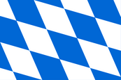 Free State of Bavaria ([Freistaat Bayern]) State and Civil Flag Flag