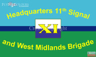 11 Signal Brigade and HQ West Midlands flag