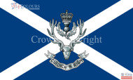 The Queens own Highlanders flag
