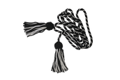 8ft (Small) Black & White, St Johns Ambulance Silk Cord & Tassels