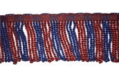 "3"" Red & Blue, Royal Engineers Silk Bullion Fringe"