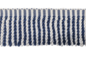"3"" Blue & White Silk Bullion Fringe"
