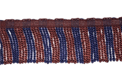 "3"" Marron & Blue, Royal Engineers Silk Bullion Fringe"