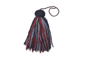 Red, Light & Navy Blue Bell Lyra tassels