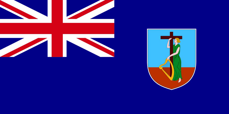 Montserrat Mini Banner Montserrat Flag