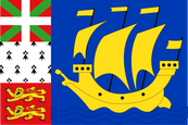 St. Pierre & Miquelon Local Flag (unofficial)