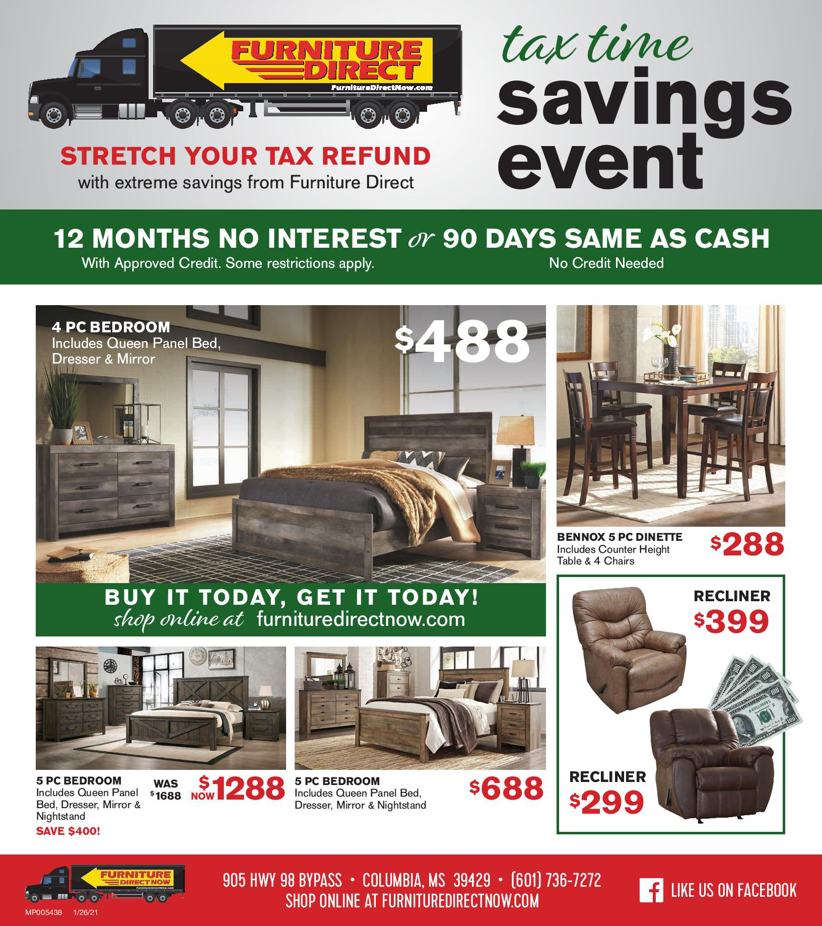 Furniture Direct Outlet Store Specials