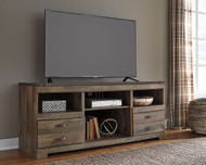 Trinell Brown LG TV Stand w/Fireplace Option