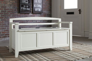 Charvanna White Storage Bench