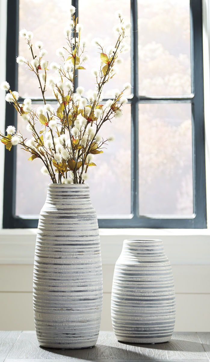 The Donaver Gray White Vase Set 2 Cn Available At