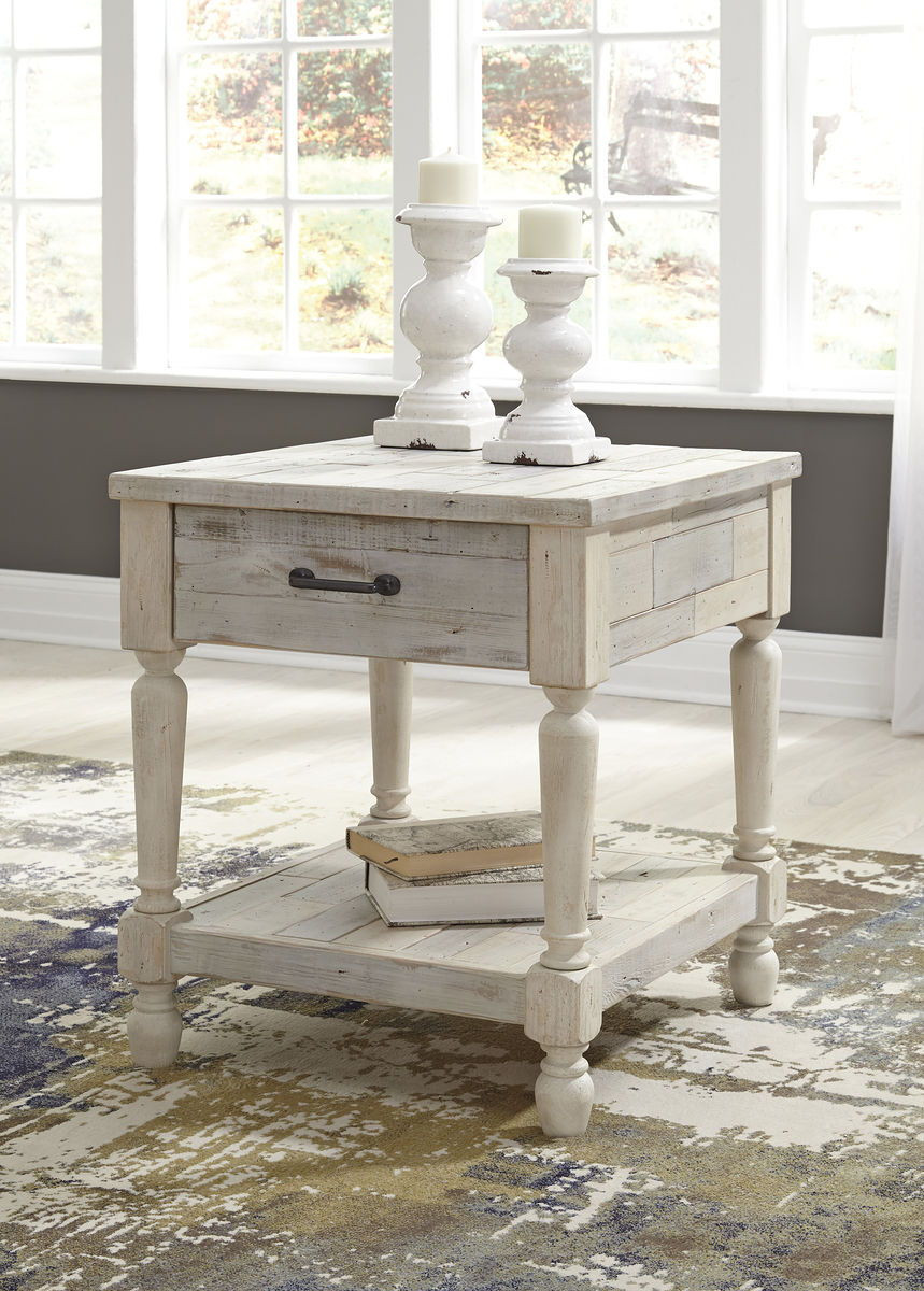 The Shawnalore White Wash Rectangular End Table Available At Furniture Direct Serving Hattiesburg Ms And Surrounding Areas
