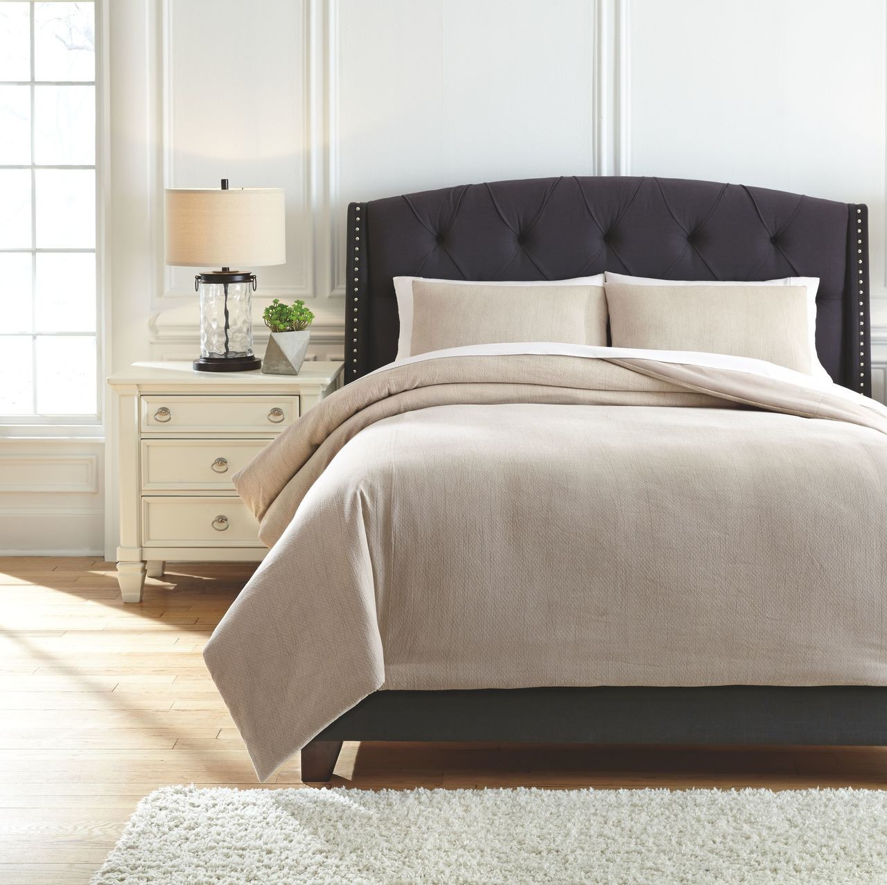 The Mayda Beige King Comforter Set Available At Furniture