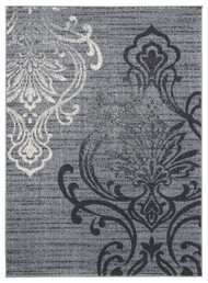 Verrill Gray/Black Large Rug