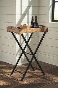 Cadocridge Brown/Black Accent Table