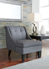 Calion Gunmetal Accent Chair