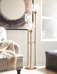 Emmie Antique Gold Finish Metal Floor Lamp (1/CN)