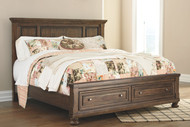 Flynnter Medium Brown California King Panel Bed with Storage