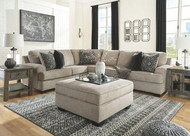 Bovarian Stone LAF Sofa with Corner Wedge, Armless Chair, RAF Loveseat Sectional & Ottoman