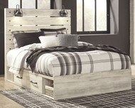 Cambeck Whitewash Queen Panel Bed with 2 Storages