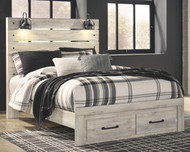 Cambeck Whitewash Queen Panel Bed with Storage