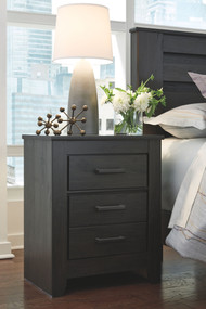 Brinxton Charcoal Two Drawer Night Stand