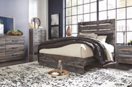 Drystan Multi 8 Pc. Dresser, Mirror, Chest, Queen Panel Bed & 2 Nightstands