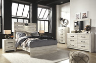 Cambeck Whitewash 8 Pc. Dresser, Mirror, Chest, Full Panel Bed & 2 Nightstands