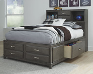 Caitbrook Gray Full Storage Bed