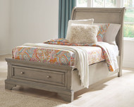 Lettner Light Gray Twin Sleigh Bed