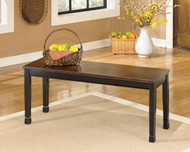 Owingsville Black/Brown Large Dining Room Bench