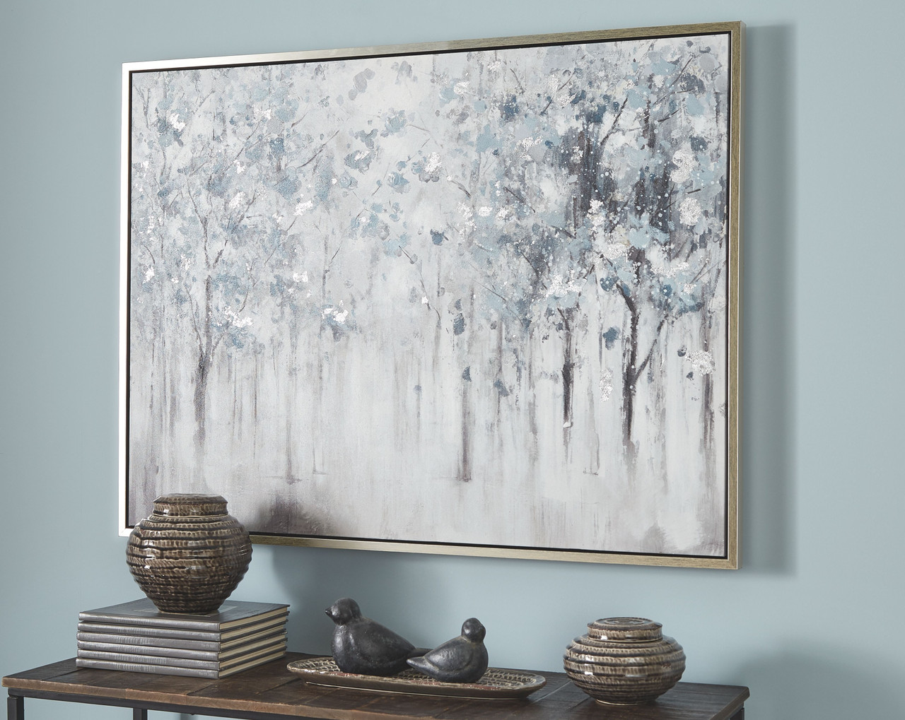 The Breckin Blue Gray White Wall Art Available At Furniture Direct Serving Hattiesburg Ms And Surrounding Areas