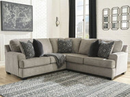 Bovarian Stone LAF Sofa with Corner Wedge & RAF Loveseat Sectional