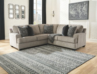 Bovarian Stone LAF Loveseat & RAF Sofa with Corner Wedge Sectional