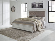Kanwyn Whitewash Queen Panel Upholstered Bed
