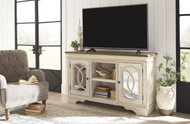 Realyn Chipped White Large TV Stand