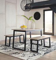 Waylowe Two-tone Rectangular  Table Set (3/CN)