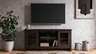 Camiburg Warm Brown LG TV Stand w/Fireplace Option