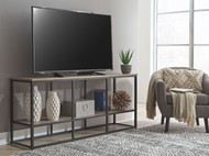 Wadeworth Brown/Black Extra Large TV Stand
