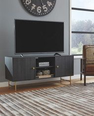 Yarlow Black Large TV Stand