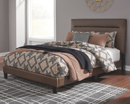Adelloni Brown King Upholstered HDBD/FTBD/Roll Slats