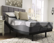 12 Inch Ashley Hybrid Gray Queen Mattress & Adjustable Base