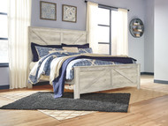 Bellaby Whitewash King Crossbuck Panel Bed