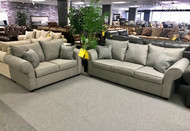 Silver Sofa and Loveseat - Online Only